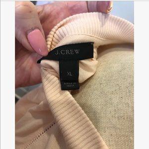 J. Crew Tops - J. Crew Eyelet Sweatshirt Blush Pink XL